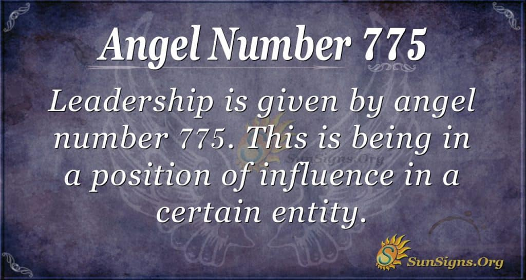 Angel Number 775