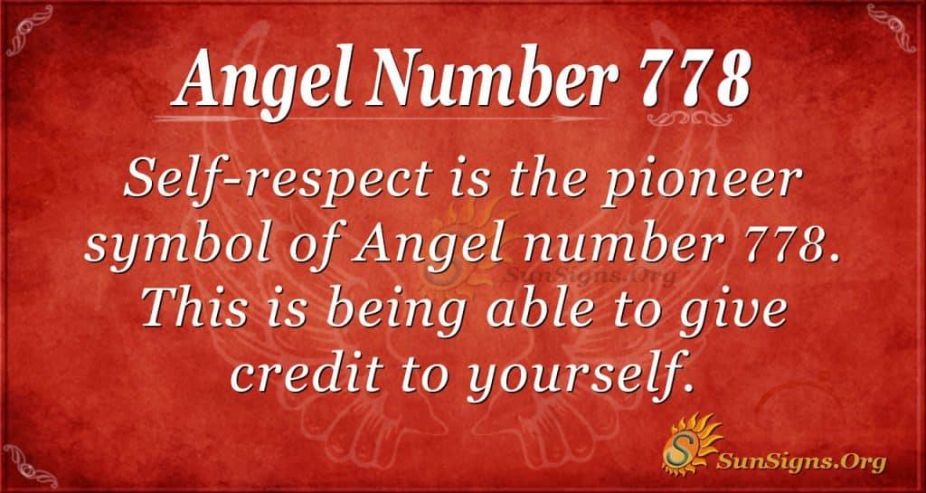 Angel Number 778