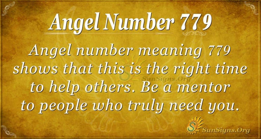 Angel Number 779