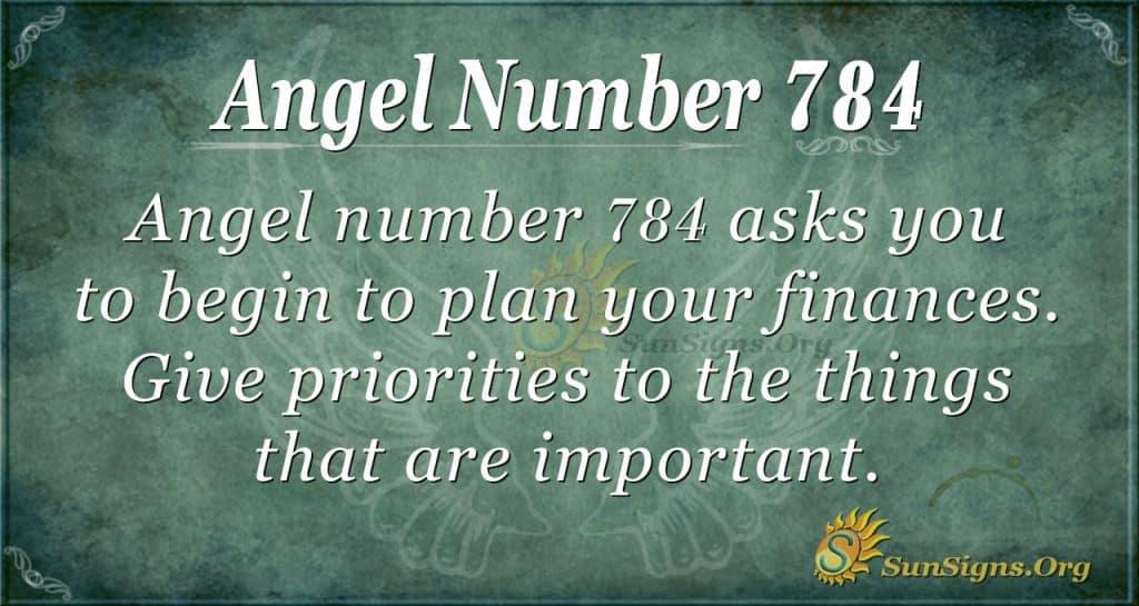 Angel Number 784