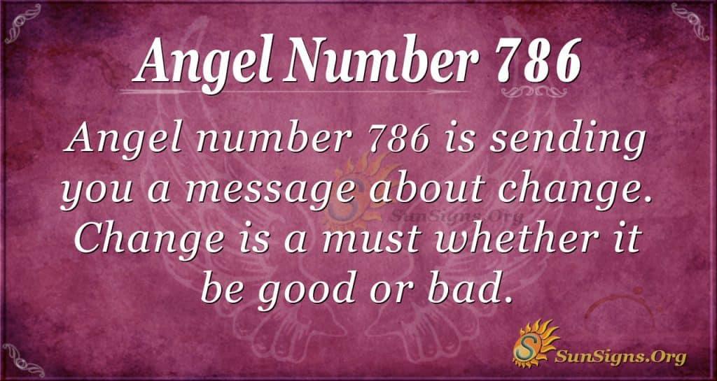 Angel Number 786