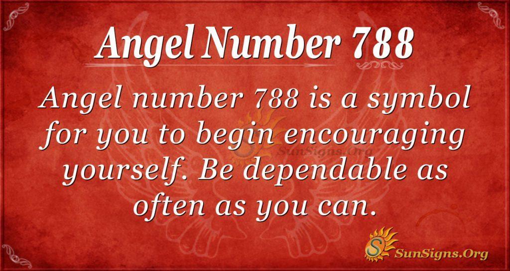 Angel Number 788