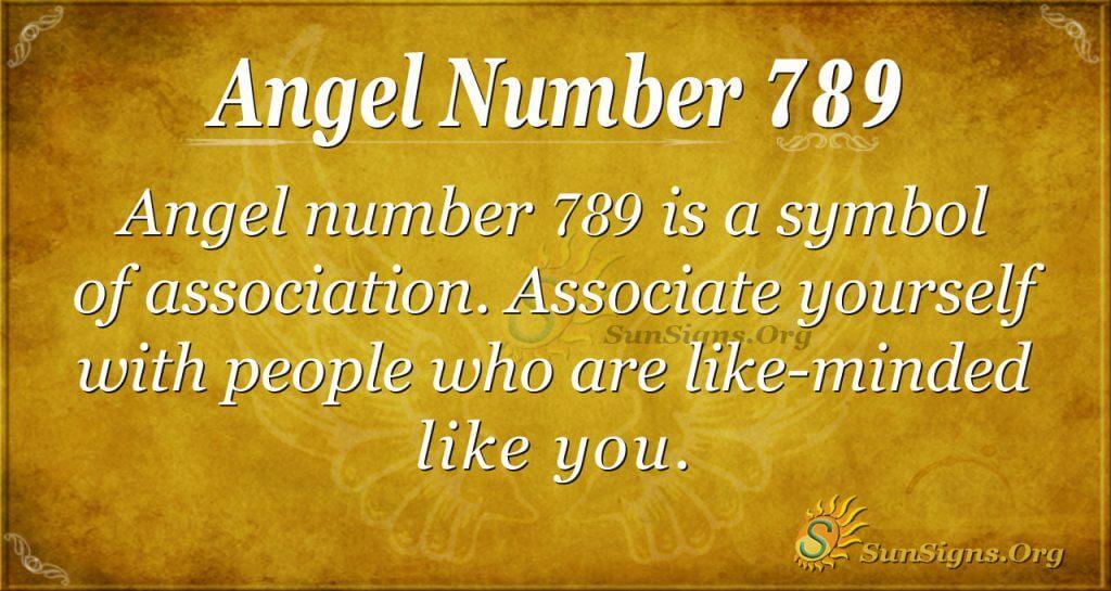 Angel Number 789