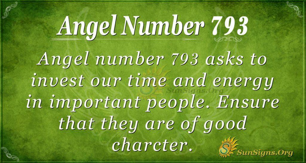 Angel Number 793
