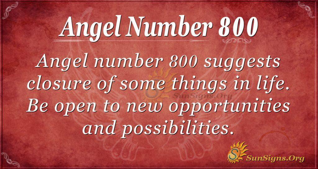 Angel Number 800