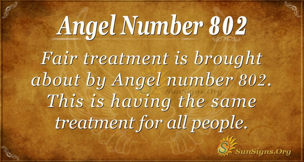 angel number 802