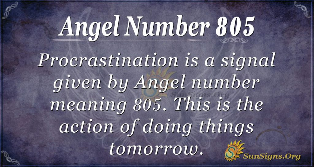 angel number 805