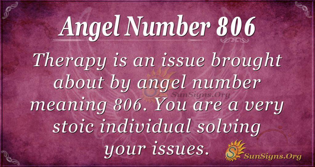 angel number 806