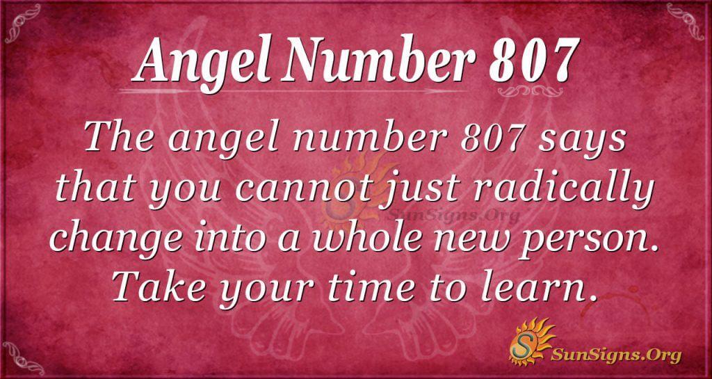 angel number 807