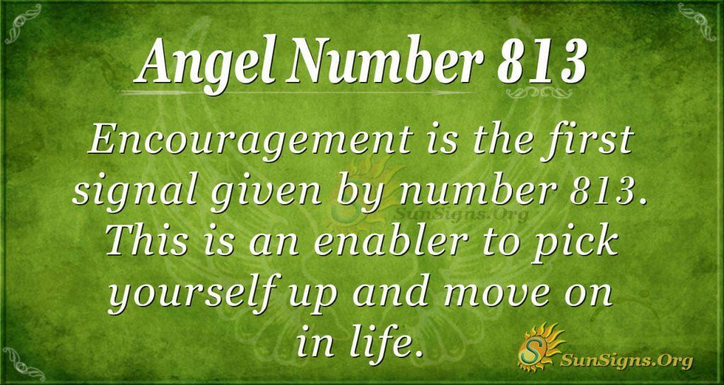 angel number 813