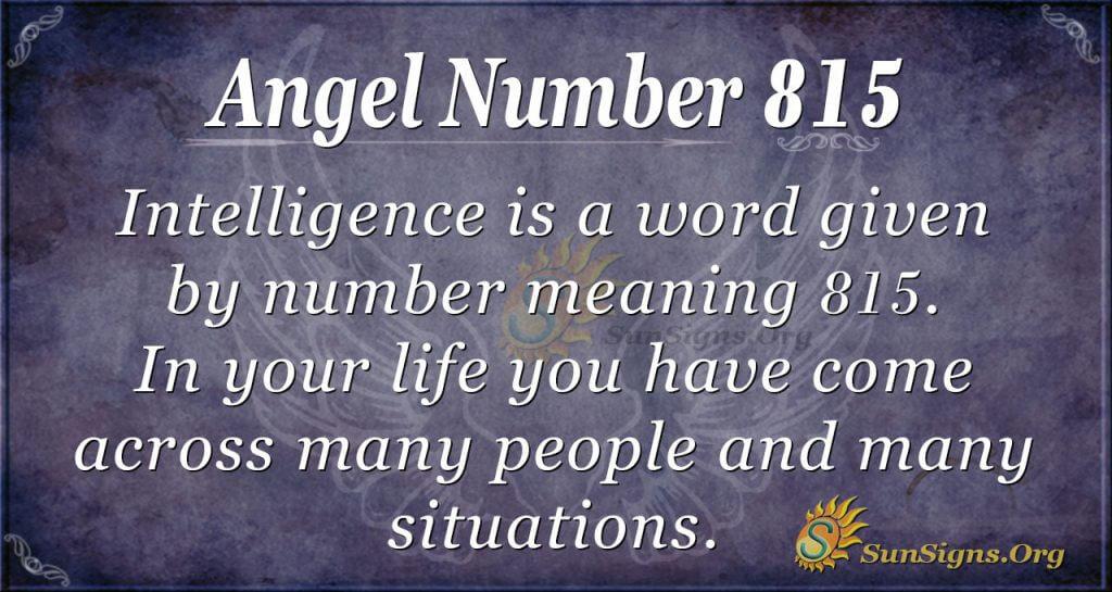 angel number 815