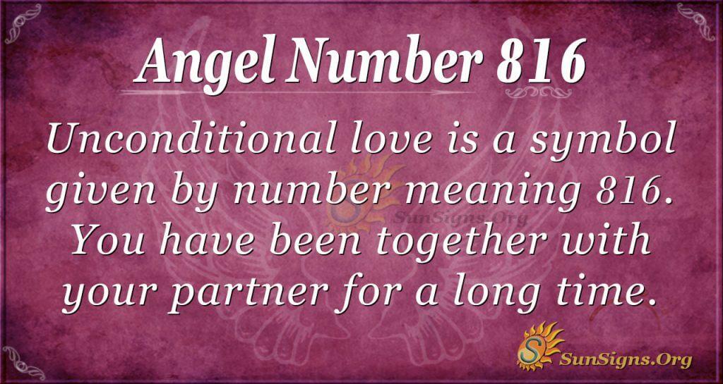 angel number 816