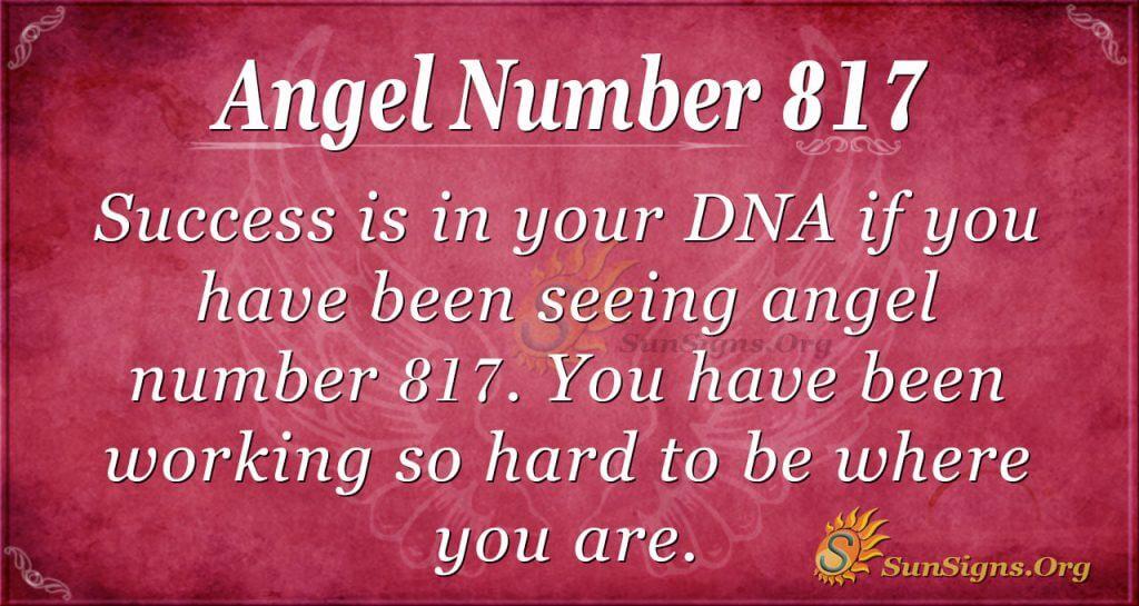 angel number 817