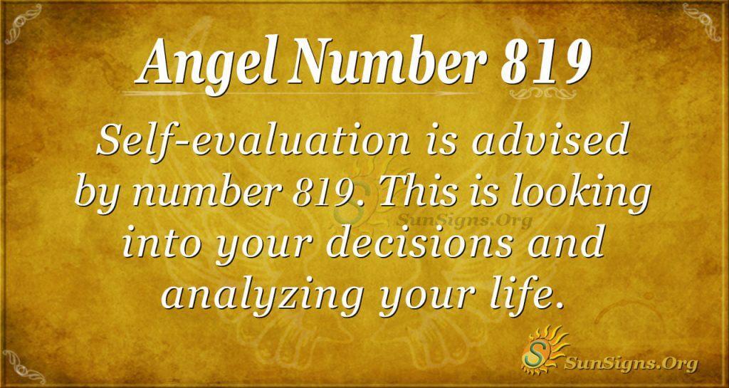 angel number 819