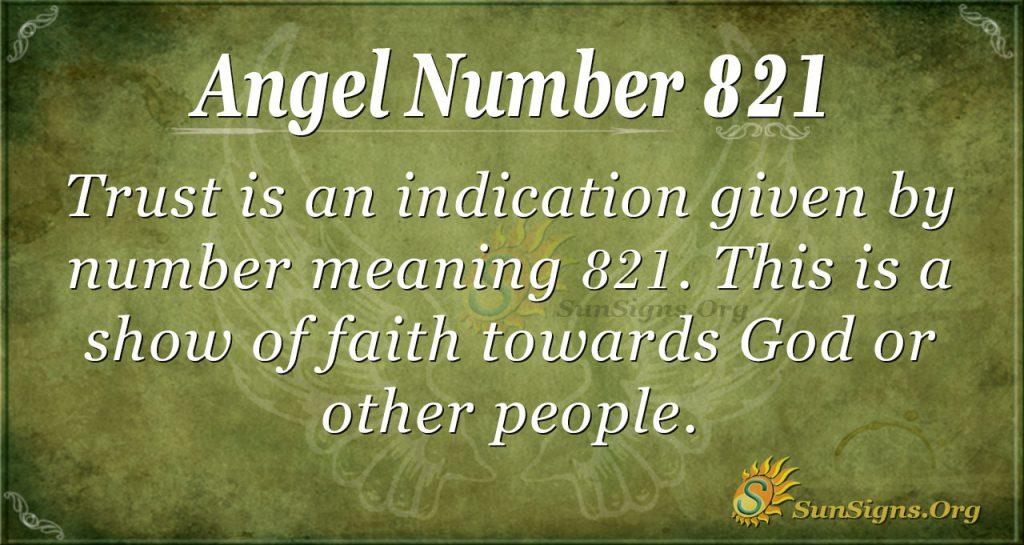 angel number 821