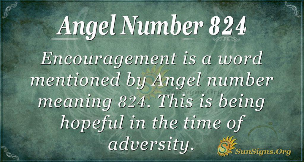angel number 824