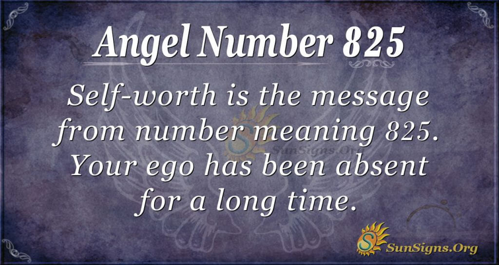 angel number 825