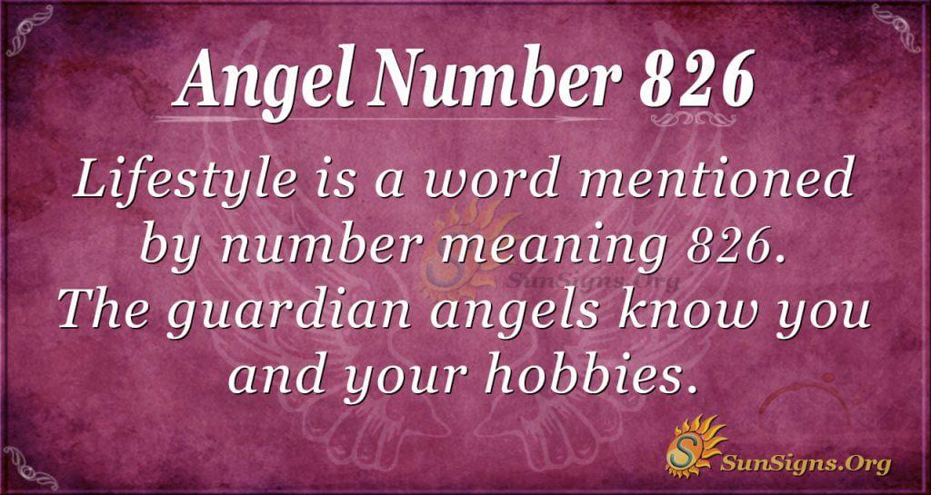 angel number 826