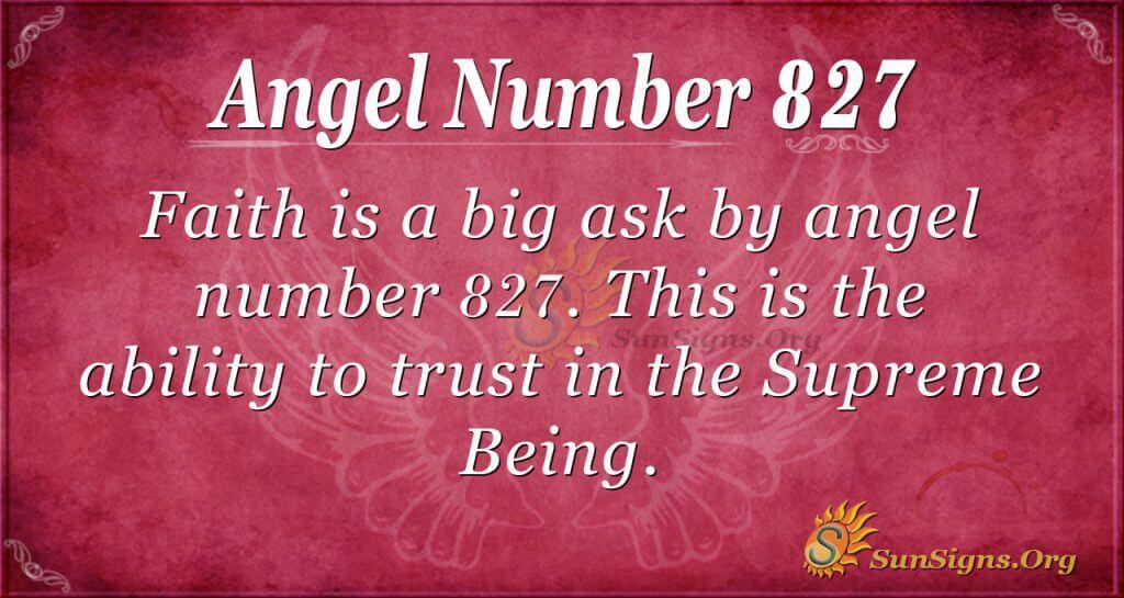 angel number 827