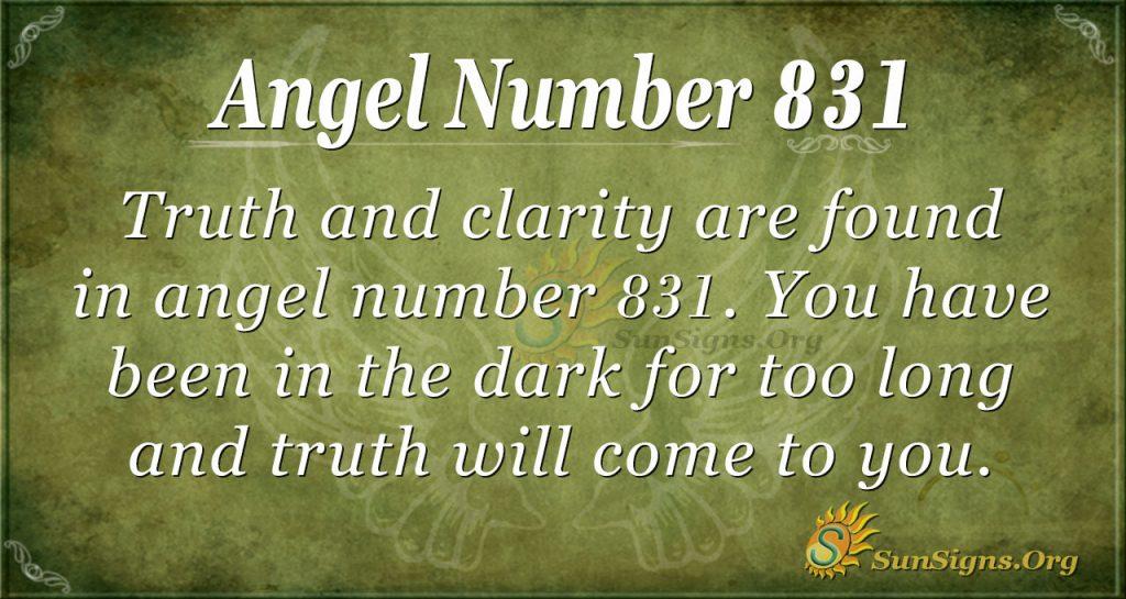 angel number 831
