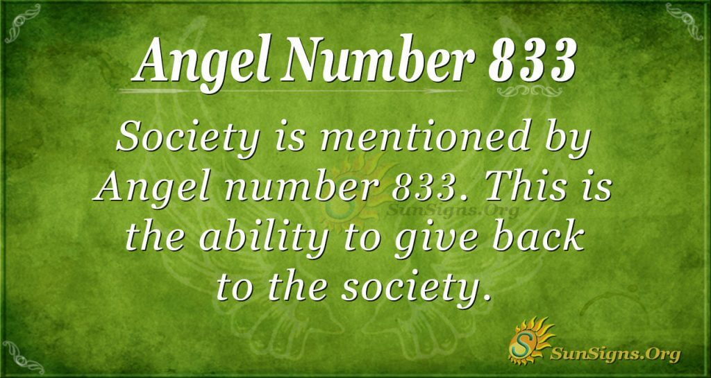 angel number 833