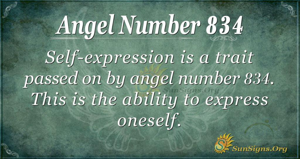 angel number 834