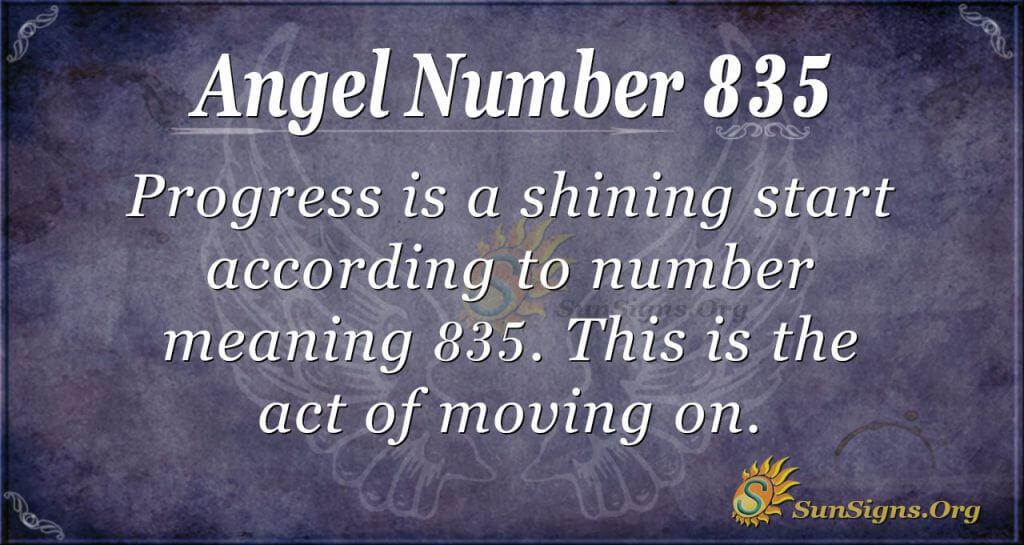 angel number 835
