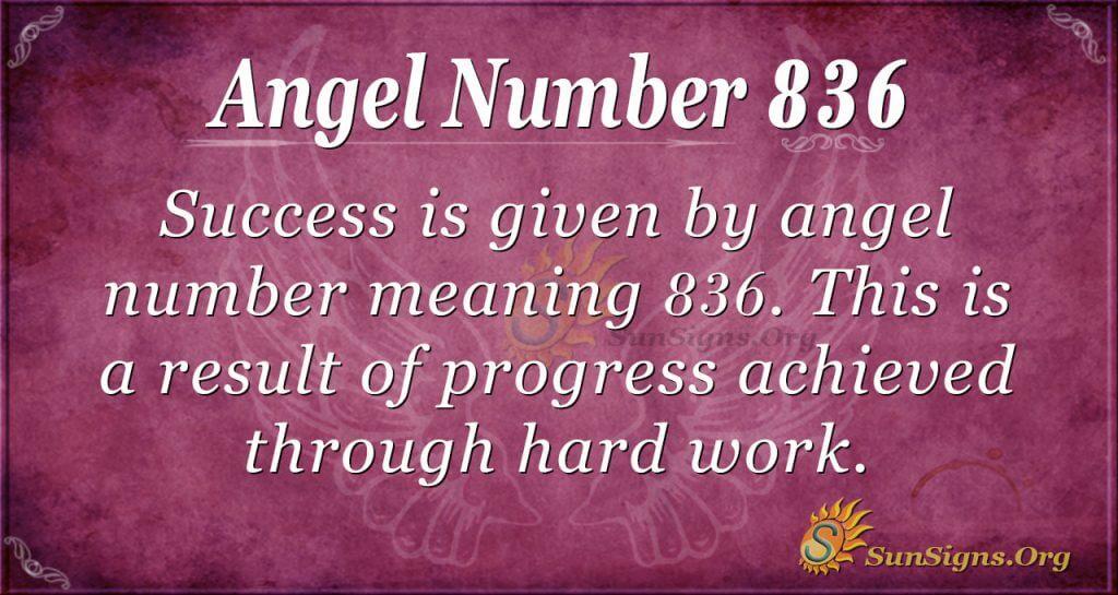 angel number 836