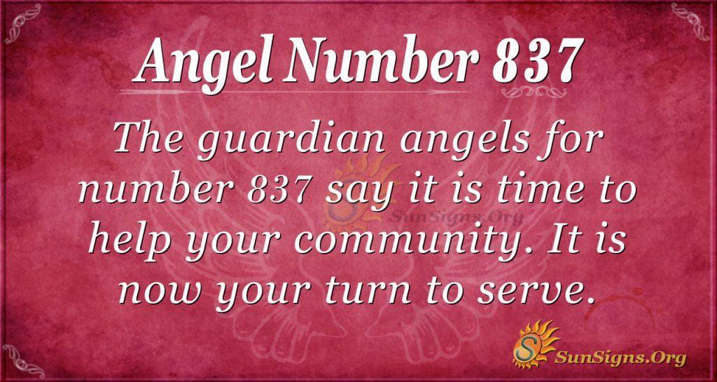 angel number 837