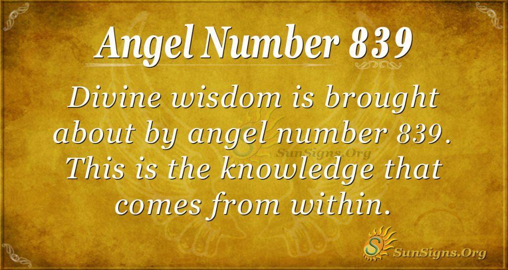 angel number 839