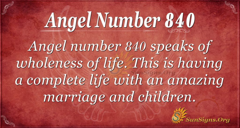 angel number 840