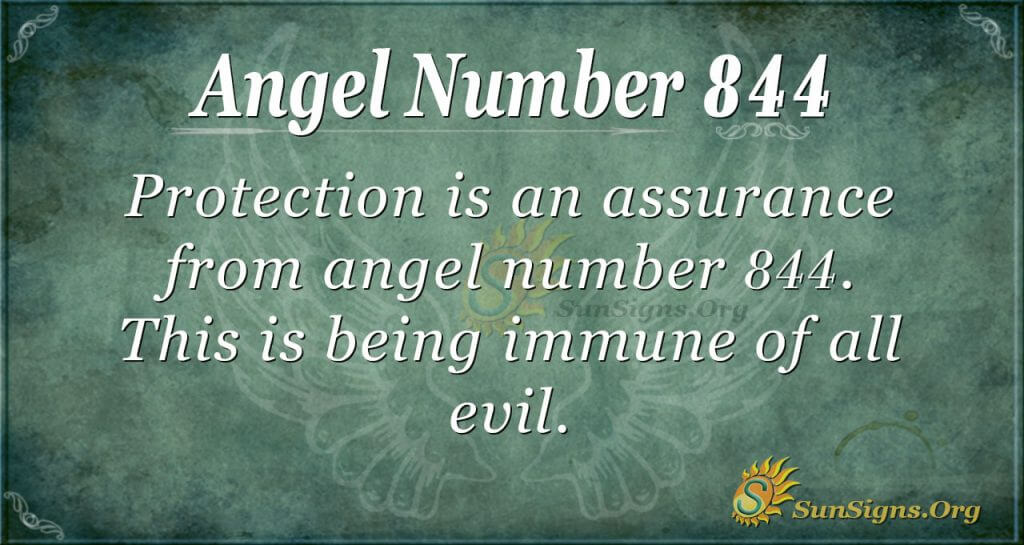 angel number 844