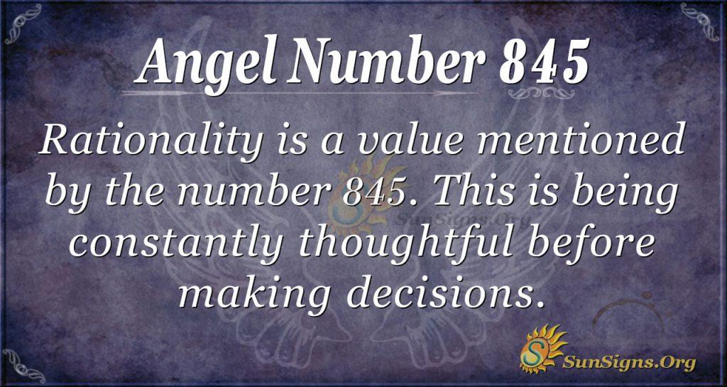 angel number 845