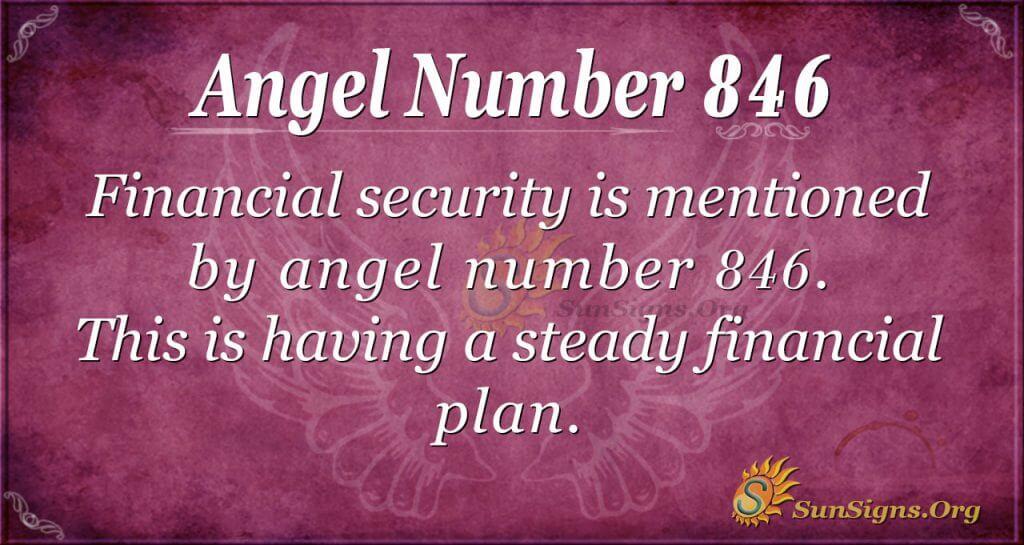 angel number 846