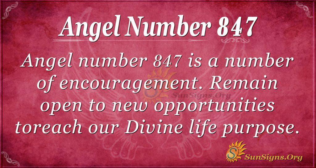 angel number 847