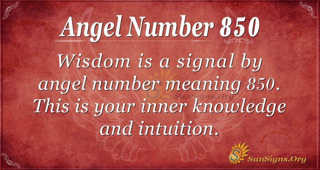 angel number 850