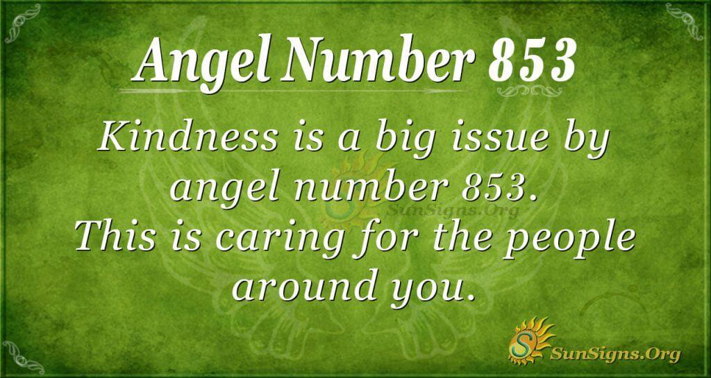 angel number 853