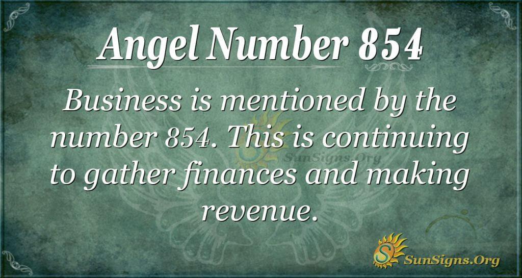 angel number 854
