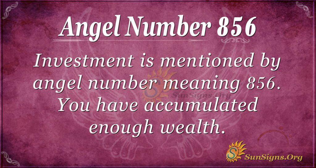 angel number 856
