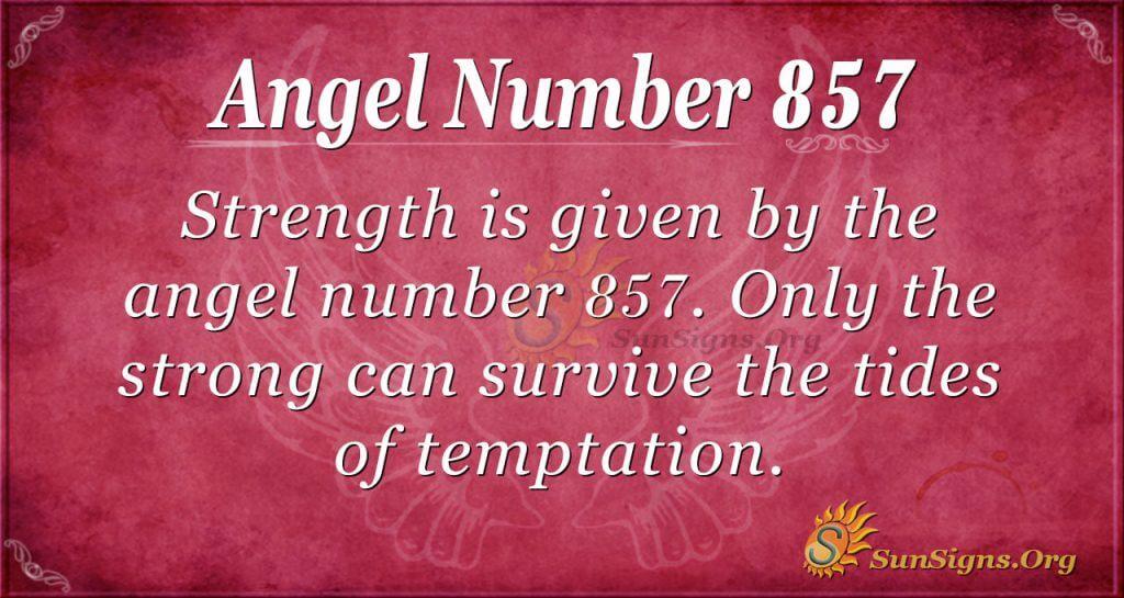 angel number 857