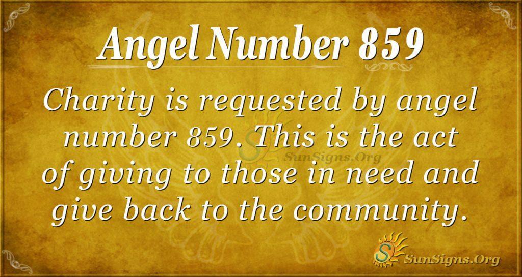 angel number 859