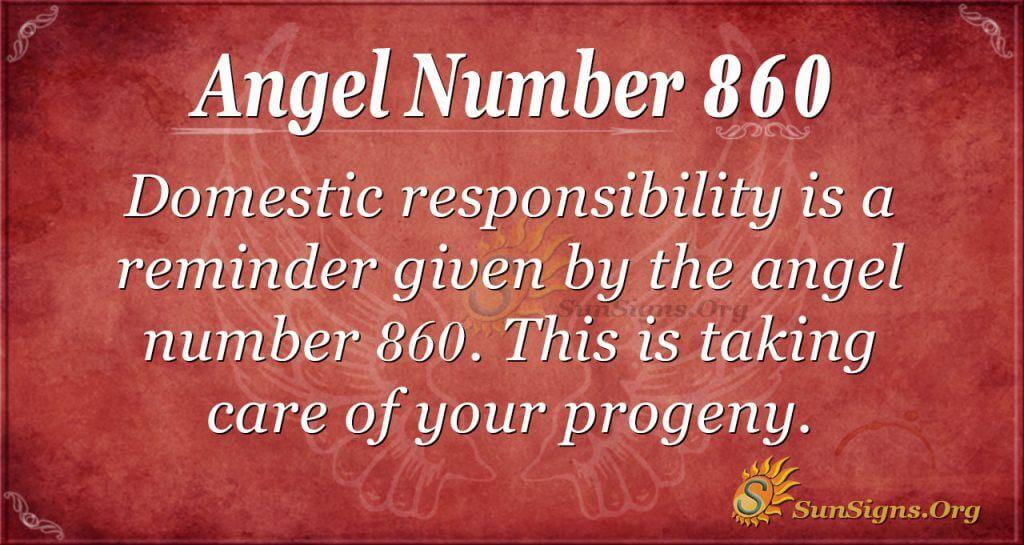 angel number 860