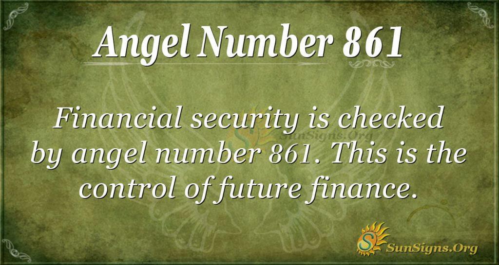 angel number 861