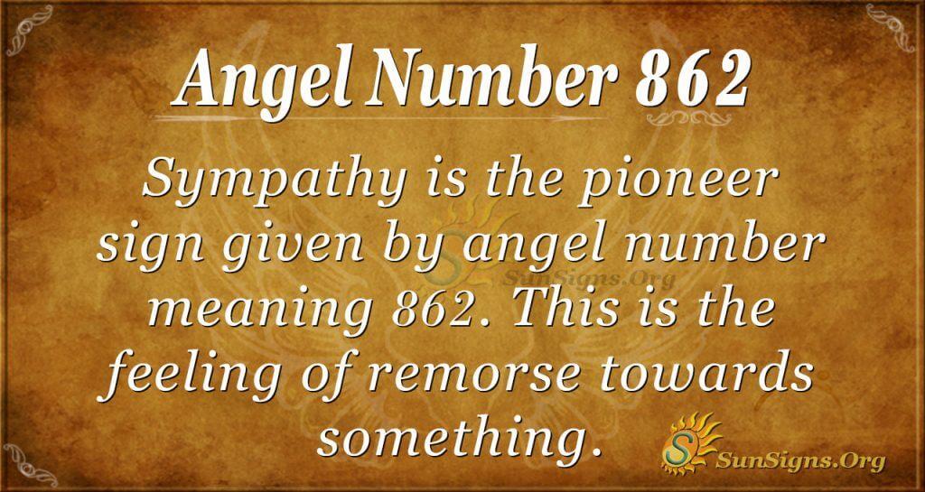 angel number 862