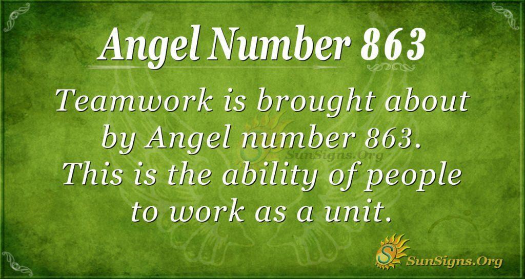 angel number 863