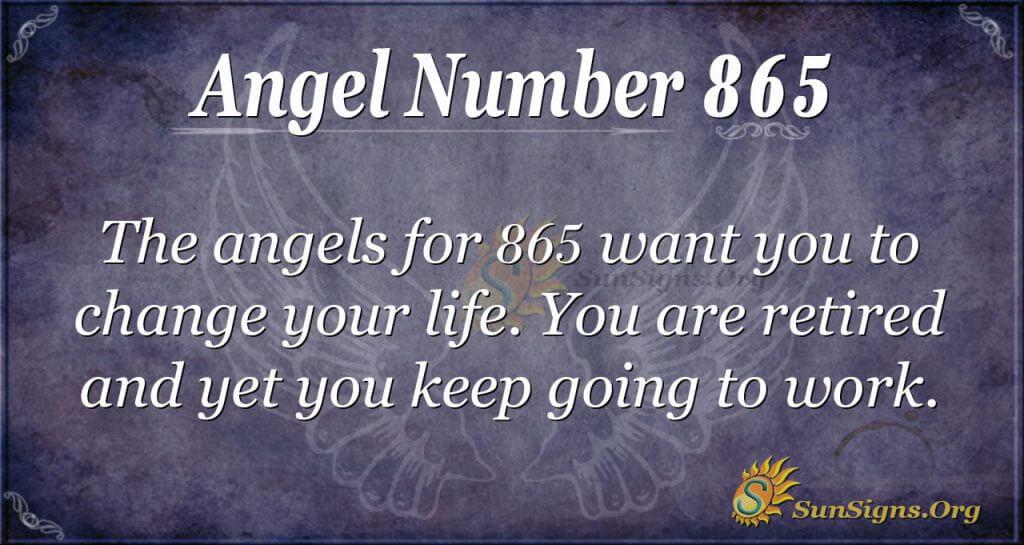 angel number 865