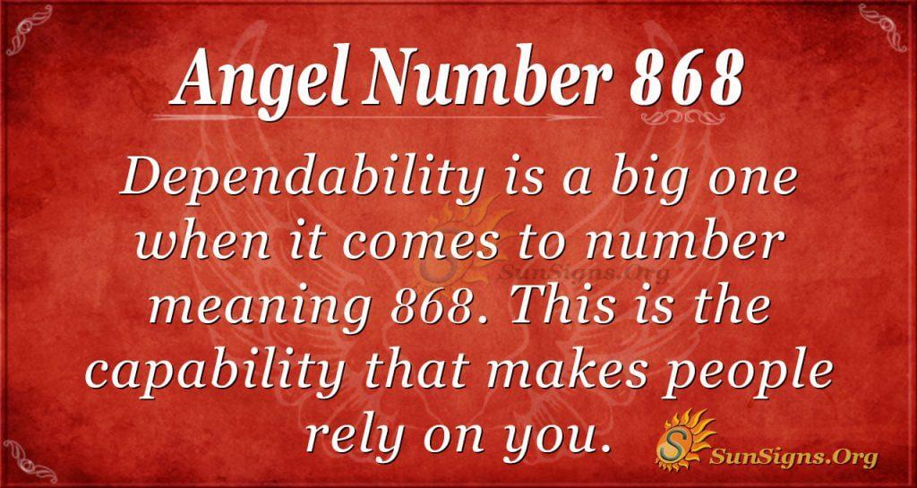 angel number 868