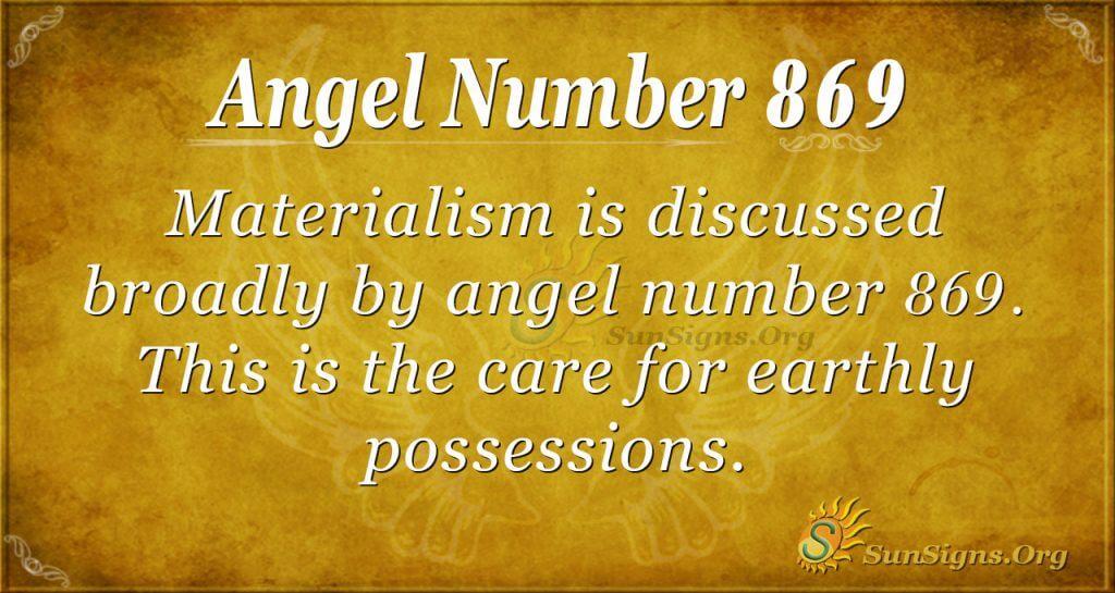 angel number 869