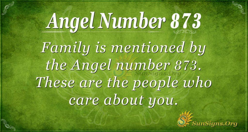 angel number 873