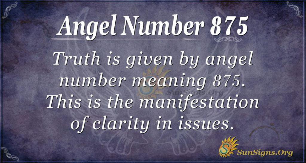angel number 875